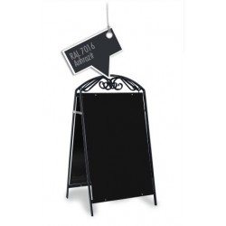 Panneau publicitaire – Chevalet publicitaire - Stop-client rétro fer forgé Anthrazit