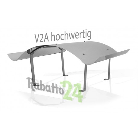 Chapeau de cheminée en acier inoxydable V2A 1.4301 fabrication spéciale 1 mm